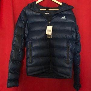 Adidas Outdoor Itavic 3-Stripe hooded jacket.